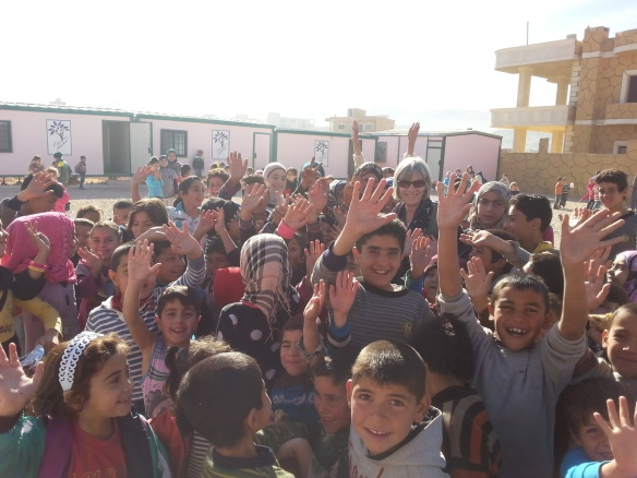 The newly refurbished Al-Molham camp school in Arsal, Lebanon, supported by EDA. Picture courtesy of Maggie Tookey