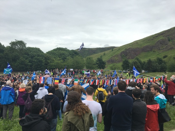Thousands attend pro-EU rally in Edinburgh, June 29 2016.