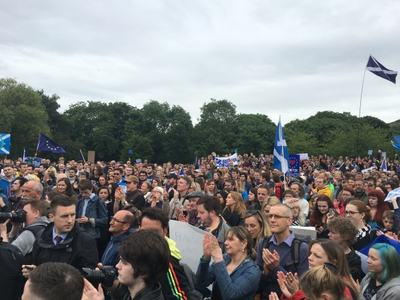 Thousands came out to show their support for Scotland staying in the EU